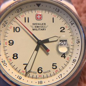 WENGER Swiss Military Men's Watch w/ Green Strap